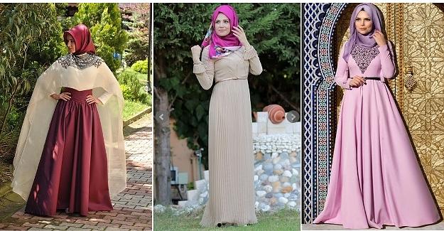 Tesettür Elbise Modelleri Yeni Yılda Işık Saçıyor!