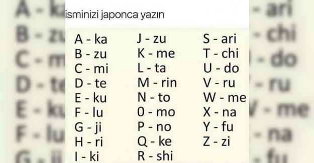 İsminizi Japonca Yazabilirsiniz Japon Alfabesi