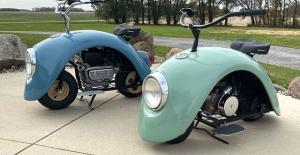 """Bu"""" Volkspod """"Scooterları Eski Volkswagen Beetle Fenders Kullanarak Oluşturuldu"""