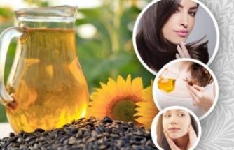Saç ve Cilt Sorunlarına Ayçiçek Yağı Kullanın